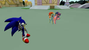 Sonic goes to Ponyville... GMod.