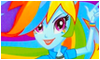 Rainbow Dash: Equestria Girls Stamp by NatouMJSonic