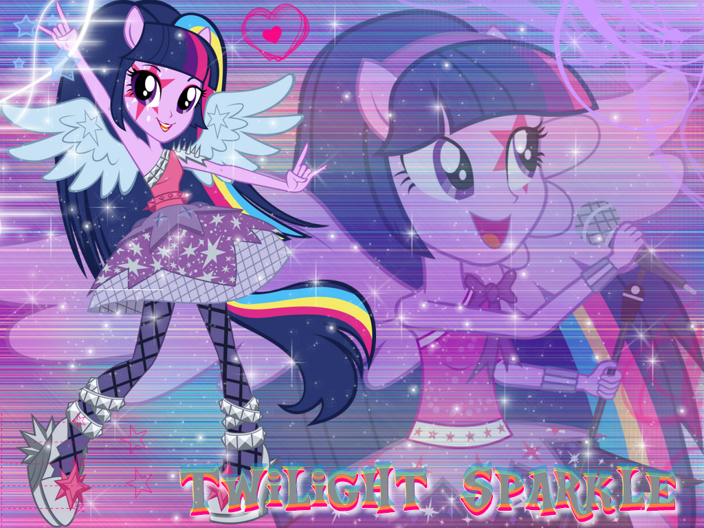Twilight Sparkle EG Rainbow Rocks Wall by NatouMJSonic