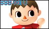 Villager SSB Wii U Stamp by NatouMJSonic