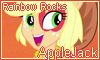 Rainbow Rocks AppleJack Stamp by NatouMJSonic