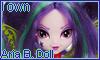 I own Aria Blaze Doll stamp by NatouMJSonic