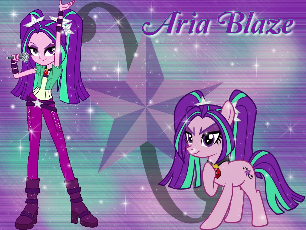 Aria Blaze And Pony Wallpaper By Natoumjsonic On Deviantart
