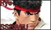 Ryu Super Smash Bros WiiU Stamp by NatouMJSonic