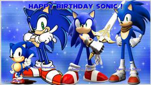 Happy Birthday Sonic 2016 by NatouMJSonic