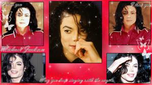 Michael Jackson Tribute Wallpaper by NatouMJSonic