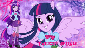 Equestria Girls Twilight Sparkle Wallpaper by NatouMJSonic