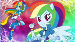 Equestria Girls Rainbow Dash Wallpaper by NatouMJSonic