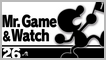 SSBU 26 MR.Game and Watch Stamp by NatouMJSonic