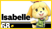 SSBU 68 Isabelle Stamp by NatouMJSonic