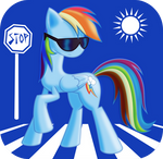 Rainbow 'Cool Shades' Dash