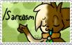 Slash Sarcasm Stamp by peckonthecheek