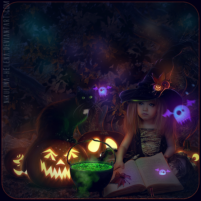 Happy Halloween 2012 (Comission) by Nikulina-Helena