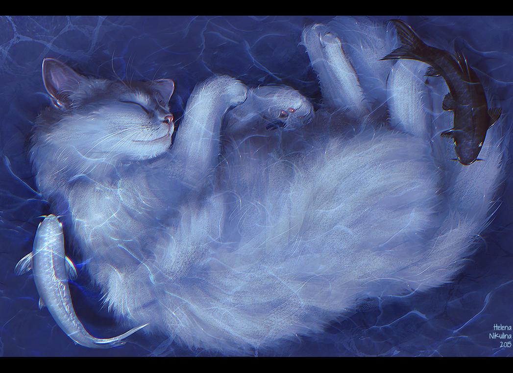 Cats Dream by Nikulina-Helena