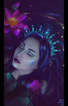 Sleeping Mermaid (Comission)