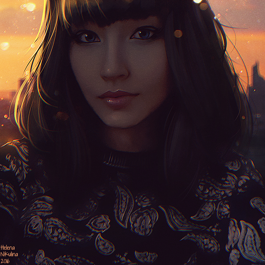 Oriental sunset + Video (Commission) by Nikulina-Helena