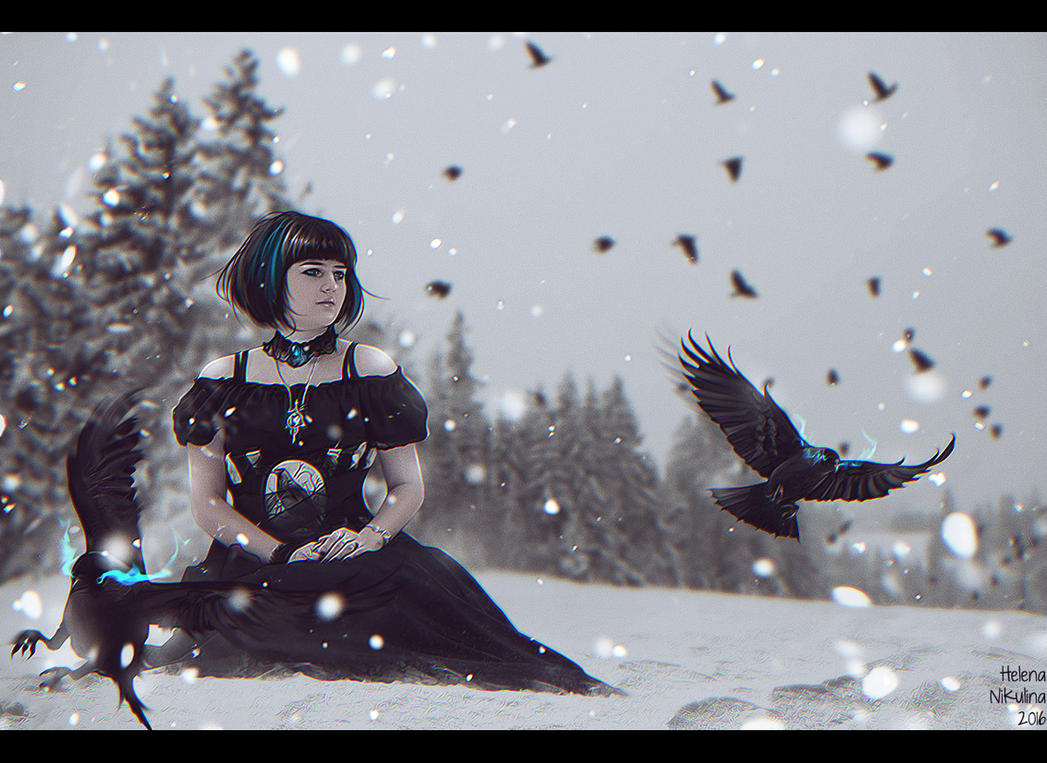 Frozen Bird (Comission) by Nikulina-Helena