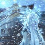 Yuki-onna (Commission) by Nikulina-Helena