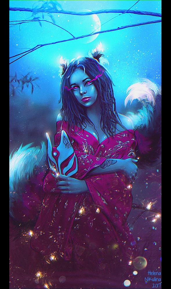 Kitsune (Commission) by Nikulina-Helena