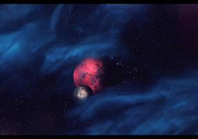 Masser and Secunda. Morrowind by Nikulina-Helena