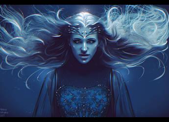 Galadriel - The Dark Lady (Commission) by Nikulina-Helena