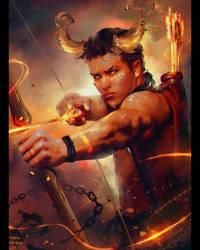 OC Demon Archer (Commission) by Nikulina-Helena
