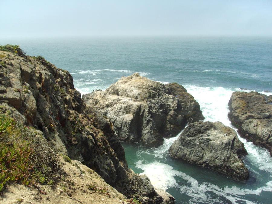 Cliff side ocean view by Bleachfangirl