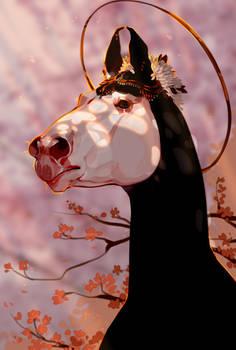 In the shade of sakura |ych