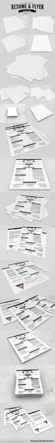 Resume / Flyer / Poster / CV Mockups