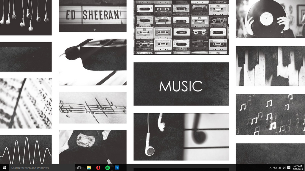 Tumblr music wallpaper black and white by coffee break editss