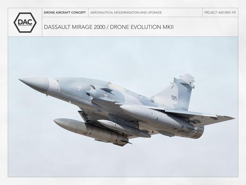 Dassault Mirage 2000 Drone Evolution MKII By Droneaircraftconcept