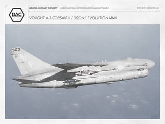 Vought A-7 Corsair II / Drone Evolution MKIII by droneaircraftconcept