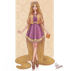 Rapunzel by MidaIllustrations