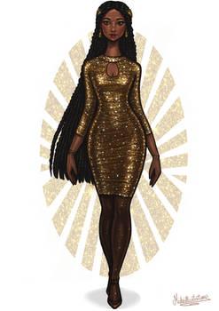 Sparkly Night Dress IV