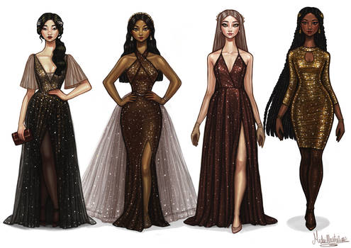 Sparkly Night Dress All