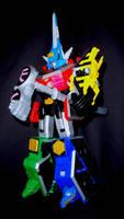 Power Rangers Samurai - Swordfish Fencer Megazord by LinearRanger
