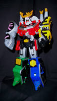 Power Rangers Samurai - Tiger Drill Megazord by LinearRanger