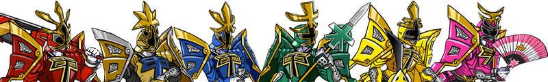 Shogun Ranger Team Art