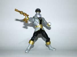 Super Mega Silver Ranger with Blaster by LinearRanger