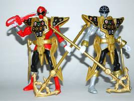 Super Mega Gold Mode Armored Rangers by LinearRanger