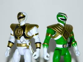 White and Green Ranger 1 by LinearRanger