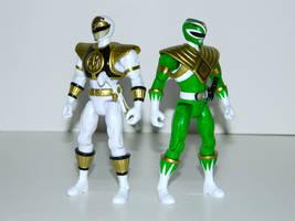 White and Green Ranger 2 by LinearRanger
