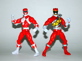 Mighty Morphin and Dino Charge Reds