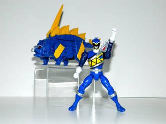 Stegosaurus Power Ranger Blue