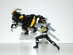 Parasaurolophus Power Ranger Black
