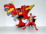 Tyrannosaurus Rex Power Ranger Red