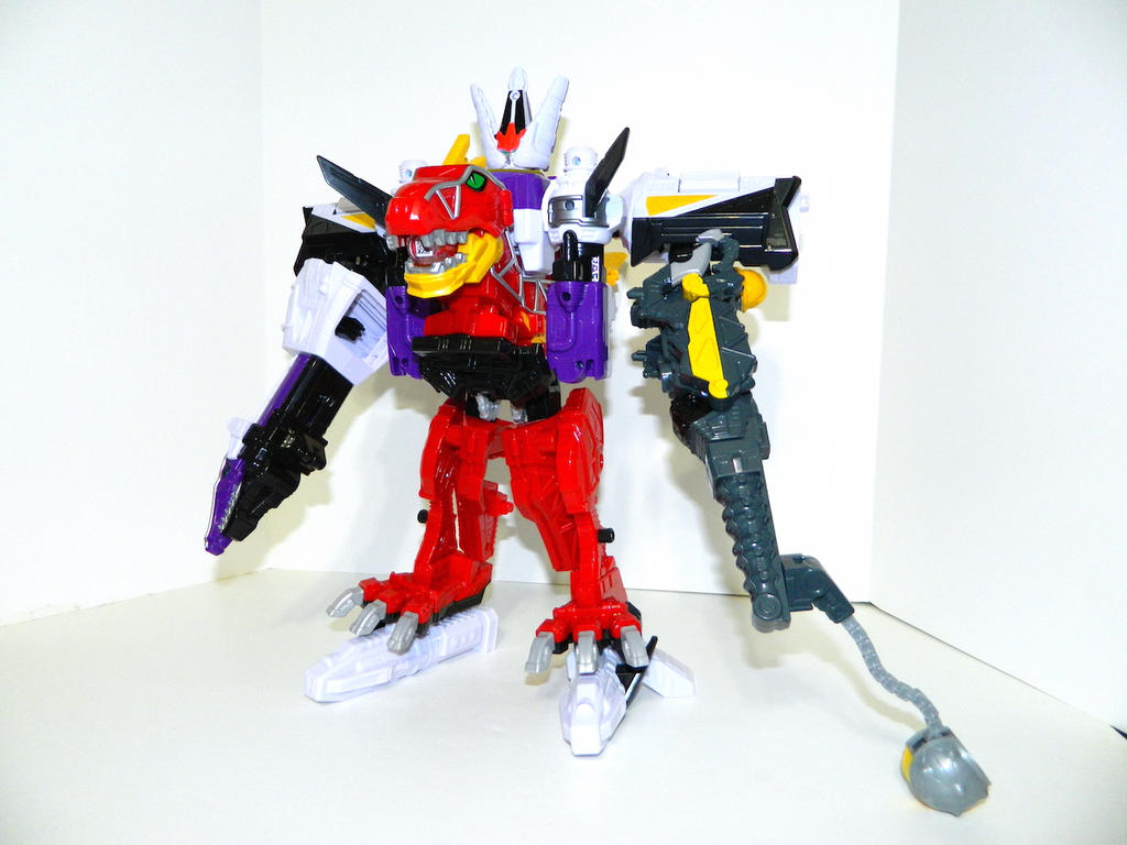 Plesio Charge Megazord, Pachy Rex Formation! by LinearRanger
