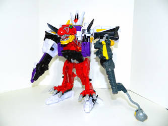 Plesio Charge Megazord, Pachy Rex Formation!