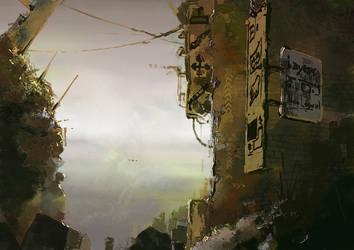 digital alleyway by Guennol