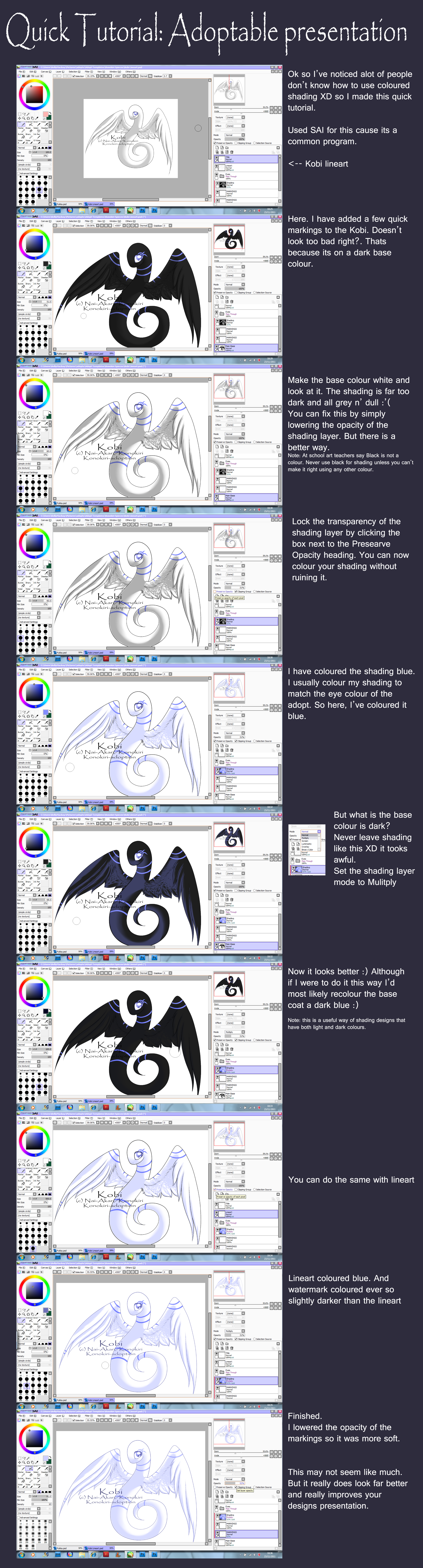 Quick Lineart Shading Tutorial by Nai-Alei